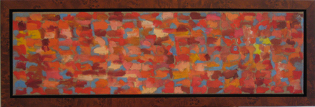 """Untitled"" oil on linen, 13x39""w, framed"